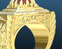 3D print model Ruby men ring