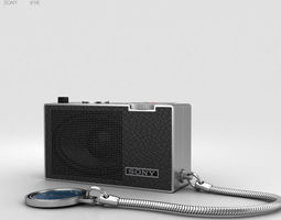 3D model Sony ICR-100 Radio