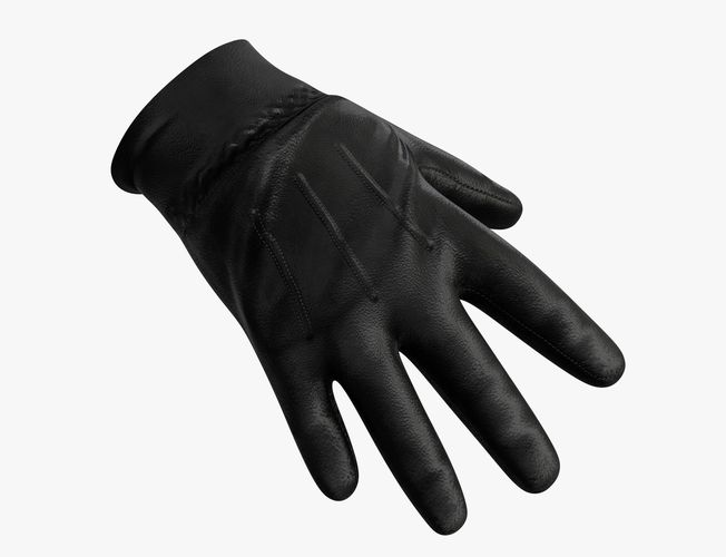 leather gloves 3d model low-poly max obj mtl fbx 1