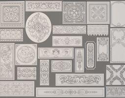 Wall Decorations-Boiserie - 25 pieces 3D model