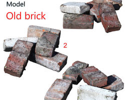 3D model Ultra realistic Old Brick Scan 8k HD