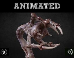 3D asset Venous Clawed Worm