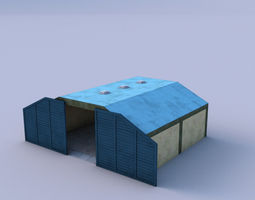 hangar game-ready 3d asset