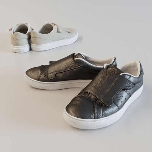 leather monk sneakers 3d model obj mtl fbx c4d 1