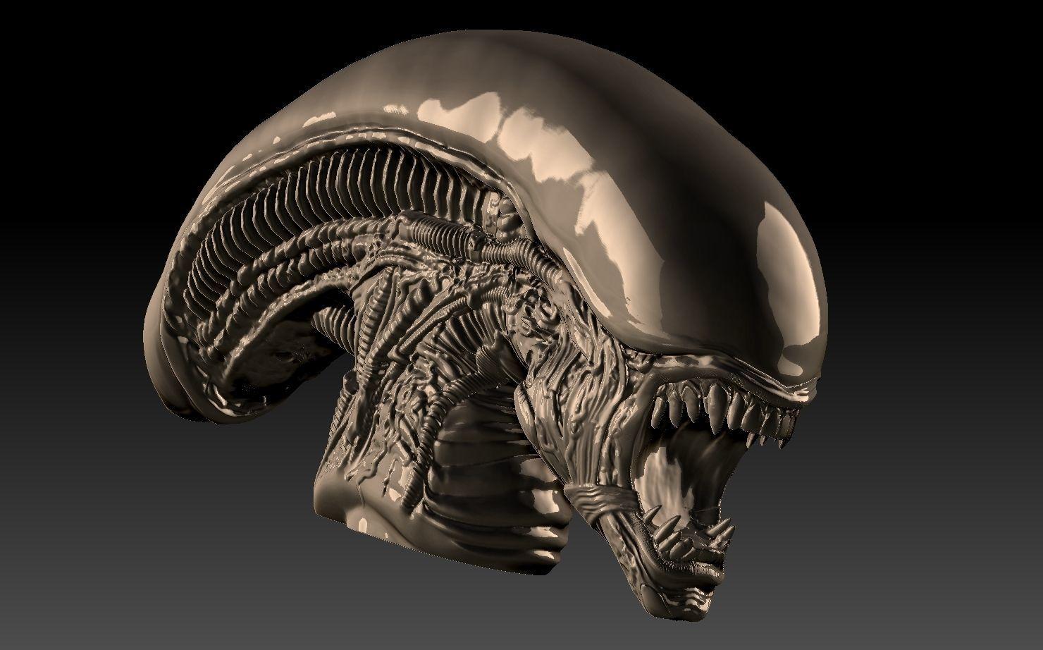xenomorph inspired Alien 3  3d print