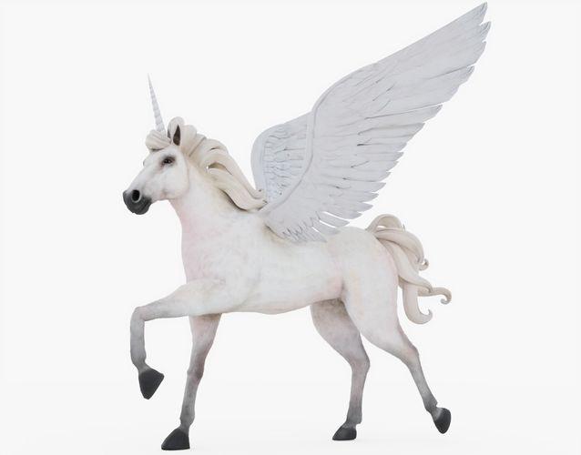 unicorn rigged with fur 3d model rigged obj mtl 3ds fbx stl blend 1