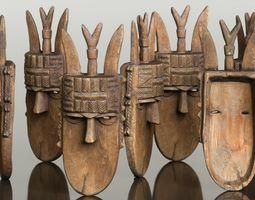 Afrikan Mask Carved Wood 47 3D model