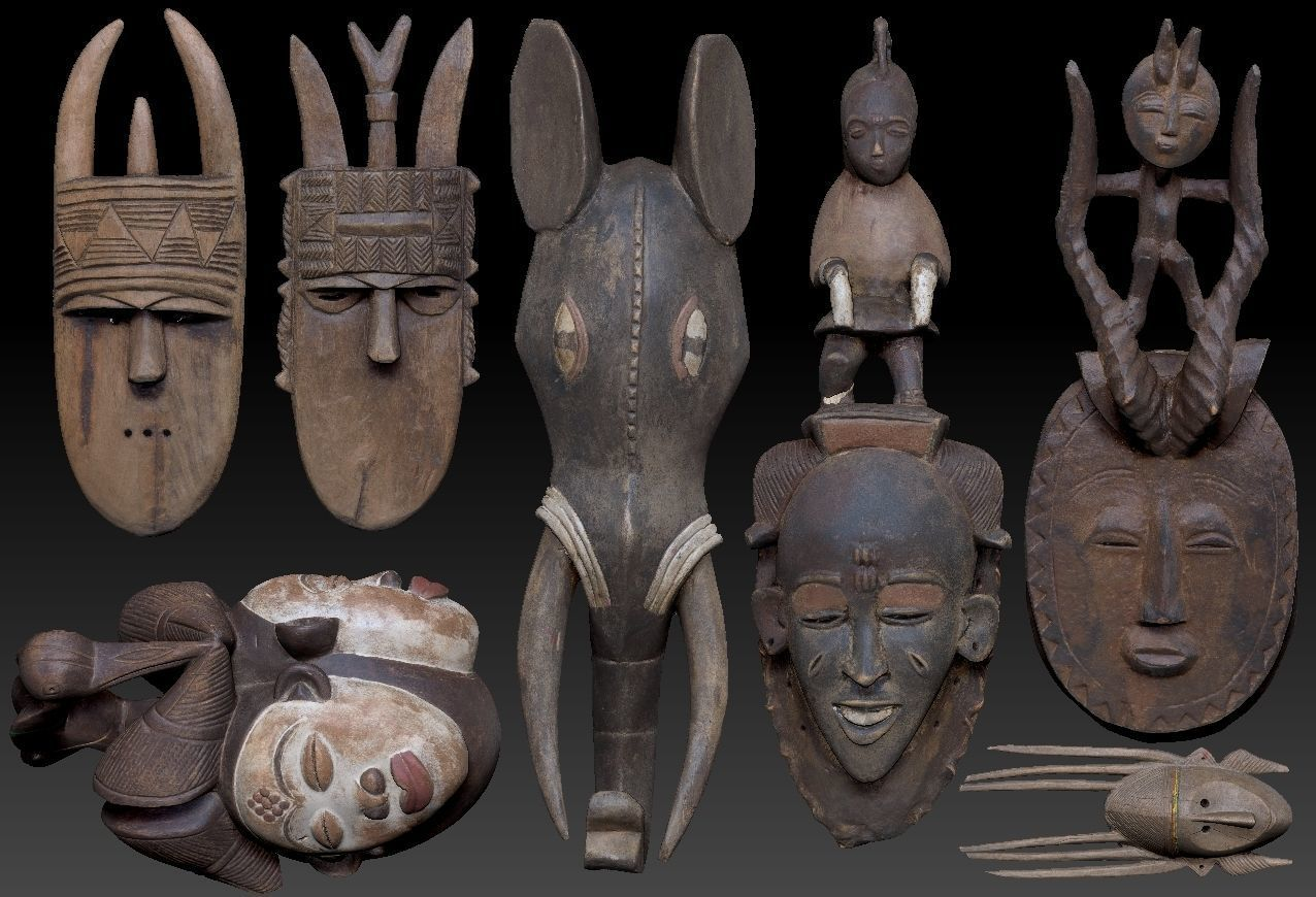 Carved  Wooden Mask Collection