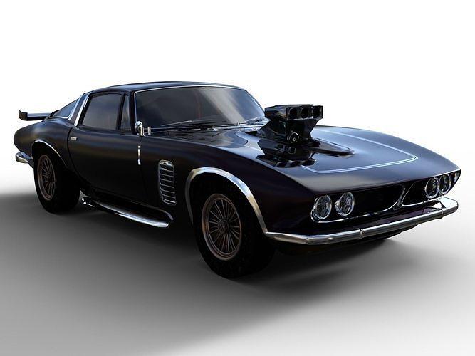 american muscle car 3d model obj mtl fbx dae u3d 1