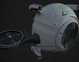 Drone 3D Model PBR 2k textures low-poly