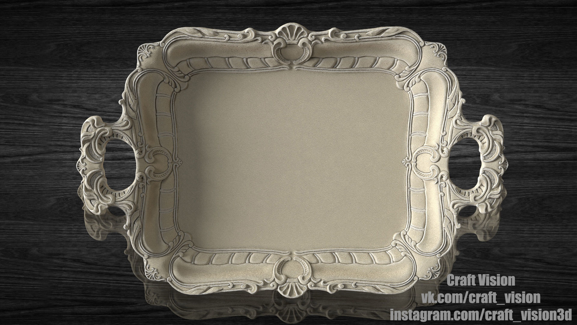 Tray with molding