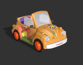 animated 3D Toon - Talking - Fly -Car