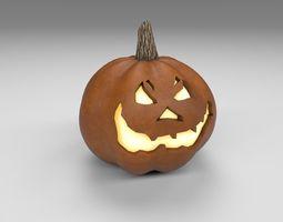 Halloween pumpkin 3D model low-poly PBR