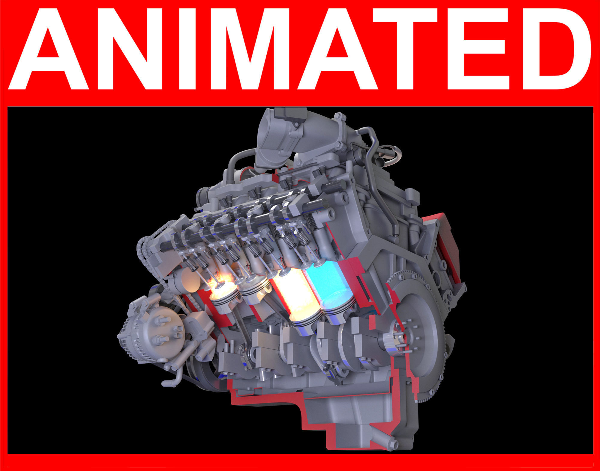How Engine Ignition Works Cutaway Animation