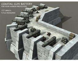 Coastal Gun Battery 3D model