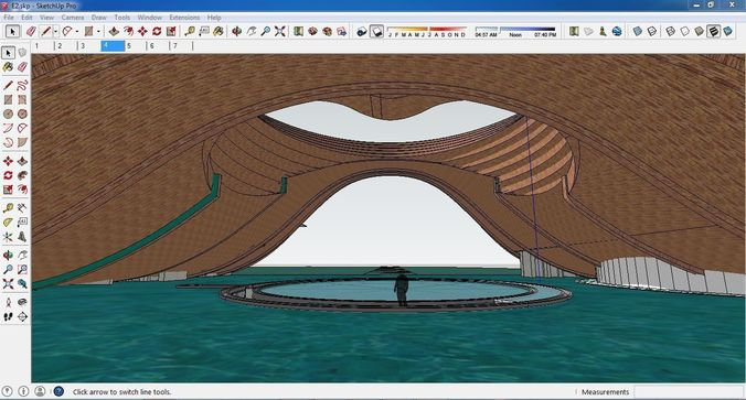 sketchup cultural center e2 3d model skp 1