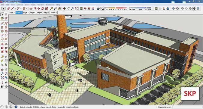 sketchup cultural center e5 3d model skp 1