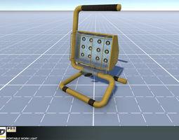 Portable Work Light 3D asset