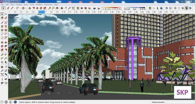 sketchup office building g3 3d model skp 1