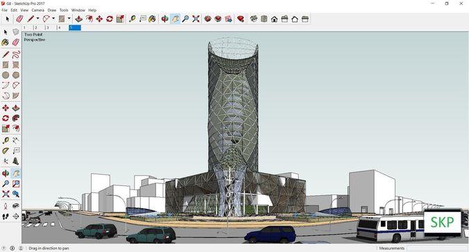 sketchup office building g8 3d model skp 1