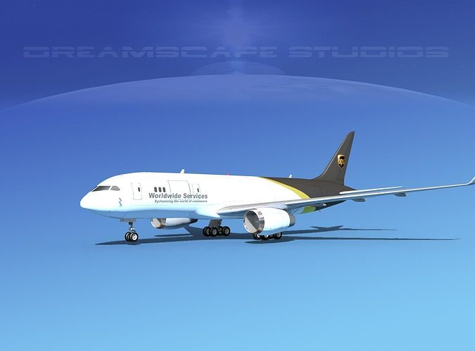 boeing 787-8 ups 3d model max obj mtl 3ds lwo lw lws dxf dwg 1