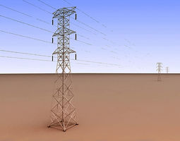 3D Power Lines Tower