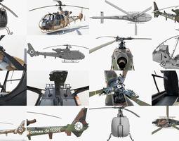 3D model Collection Sud Aviation Gazelle