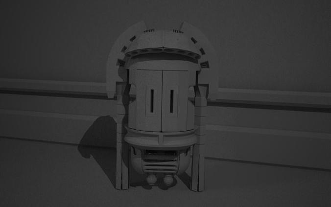 robot  3d model obj mtl ma mb 1