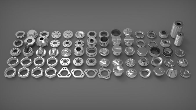 hard surface sci-fi industrial kitbash library 3d model max obj mtl fbx 1