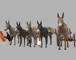 3D model Domestic animals