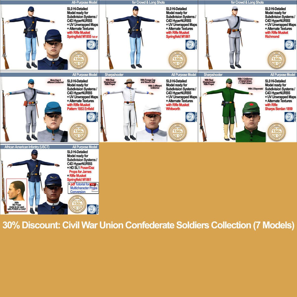 Civil War Union Confederate Soldiers Collection