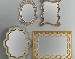 3D model Mirror Collection Set 06