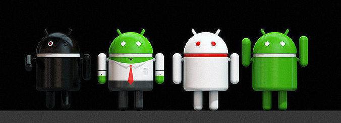 android 3d logo 3d model obj mtl c4d 1
