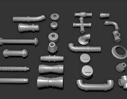 Pipe Kitbash 3D model