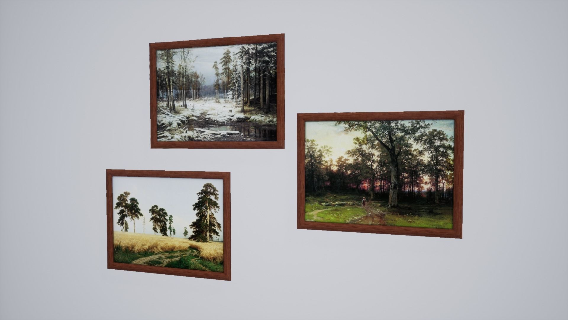 3D asset North style nature painting October | CGTrader