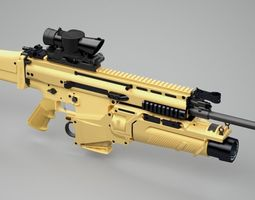 3d model scar-h assault rifle