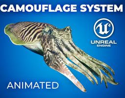 Cuttlefish Camouflage for UE4 and 3DS animated