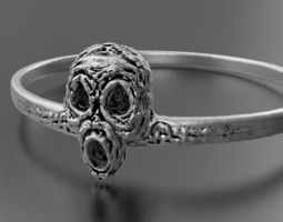 scary 3D print model Halloween ring