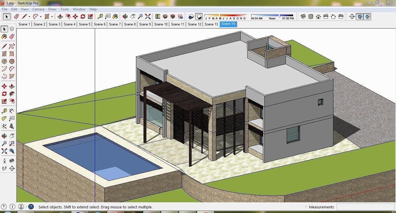 Villa A7 - 3d cad sketchup dwg jpg 3ds max   3D model