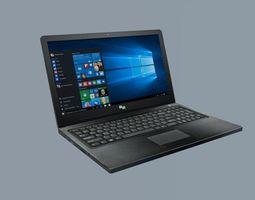 Laptop - low poly 3D model realtime