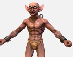 Game Character Gorllum Alien Troll Mutant 3D model