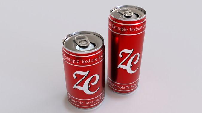 soda cans 3d model blend 1