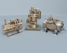 Steampunk boiler collection 02 3D