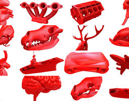 16 Printable 3D Models Collection