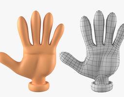 3D model Hand Basemesh for Cartoon Character