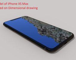iPhone XS Max - original dimensions 3D