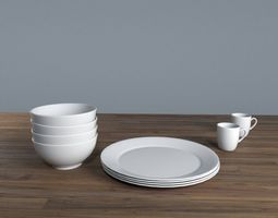 3D Dinner plates set