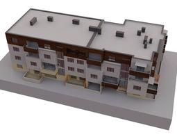Modern block of flats urban 3D