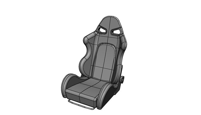 bride style sparco race car seat 3d cgtrader. Black Bedroom Furniture Sets. Home Design Ideas