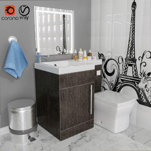 bathrom 3d model max obj mtl 1